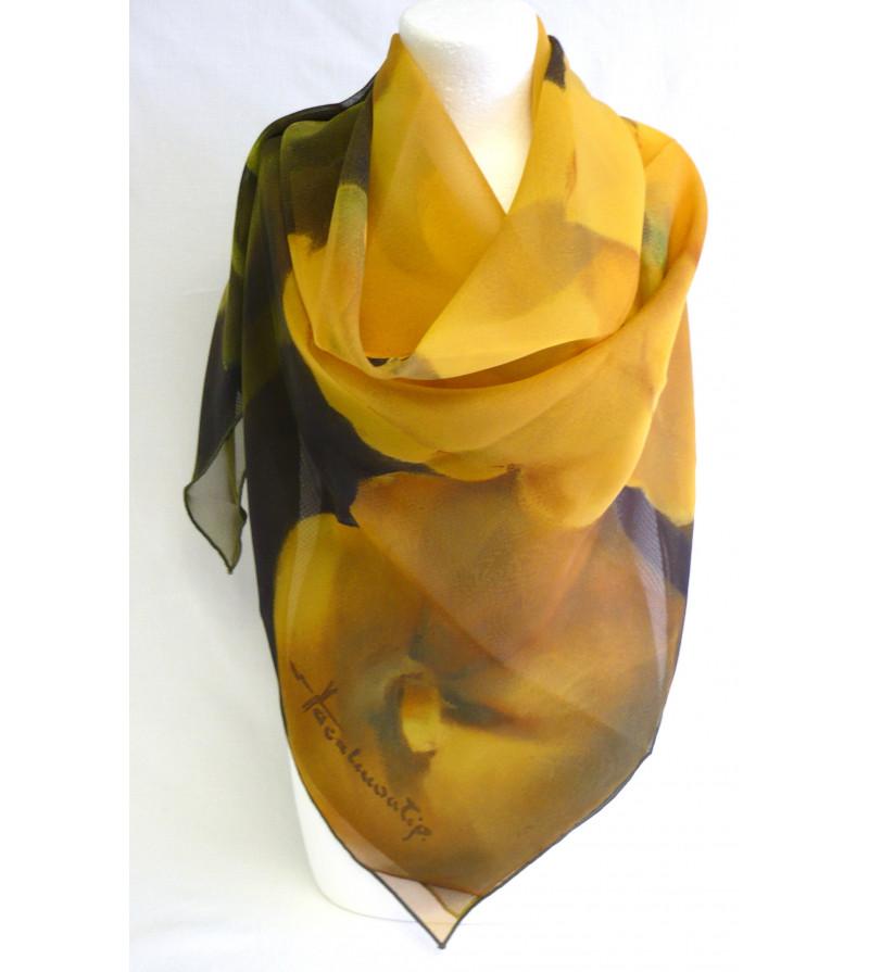 foulard 90x90 les roses tr mi res de jean lacalmontie. Black Bedroom Furniture Sets. Home Design Ideas