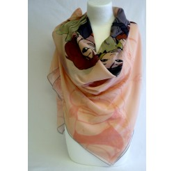"Foulard (90x90) ""Les aviatrices"" de VINCENT"