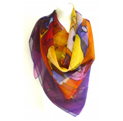 """Scarf  (90x90) """"Je t'aime"""" by MIKA"""