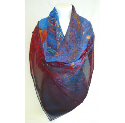 "Scarf (90x90) ""Sans titre"" by Nathalie CHAMBON"